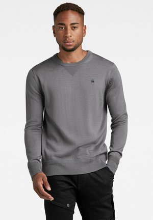 PREMIUM BASIC KNIT R  - Sweatshirt - granite