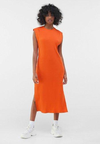 Strickkleid - orange