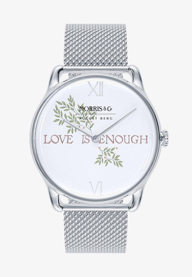 UHR MORRIS & CO SILVER LOVE IS ENOUGH MESH 38MM - Horloge - pure