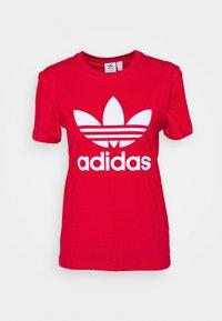 adidas Originals - TREFOIL TEE - Triko spotiskem - scarlet - 4