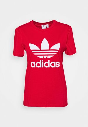 TREFOIL TEE - T-shirt con stampa - scarlet