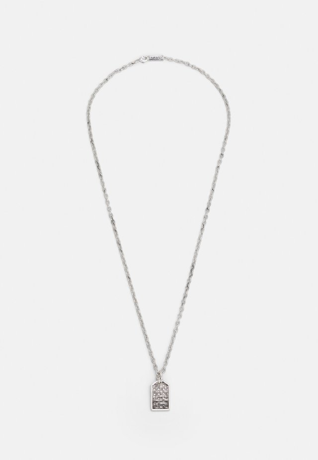 WOVEN TAG NECKLACE - Necklace - silver-coloured