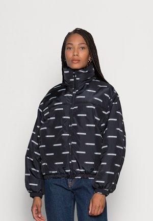 LOGO ALL OVER PRINT JACKET - Winter jacket - black