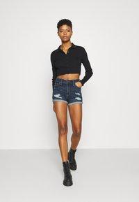 Hollister Co. - Denim shorts - dark dest - 1