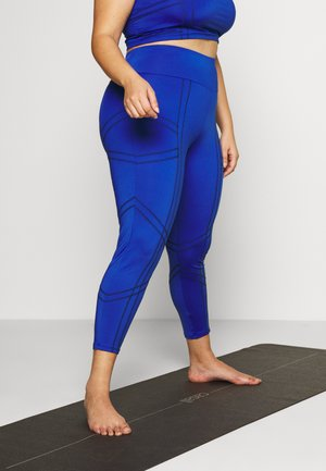PLAIN LEGGING CUT SEW - Leggings - cobalt