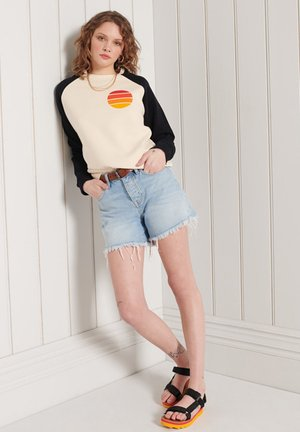 Sweatshirt - buttercream black