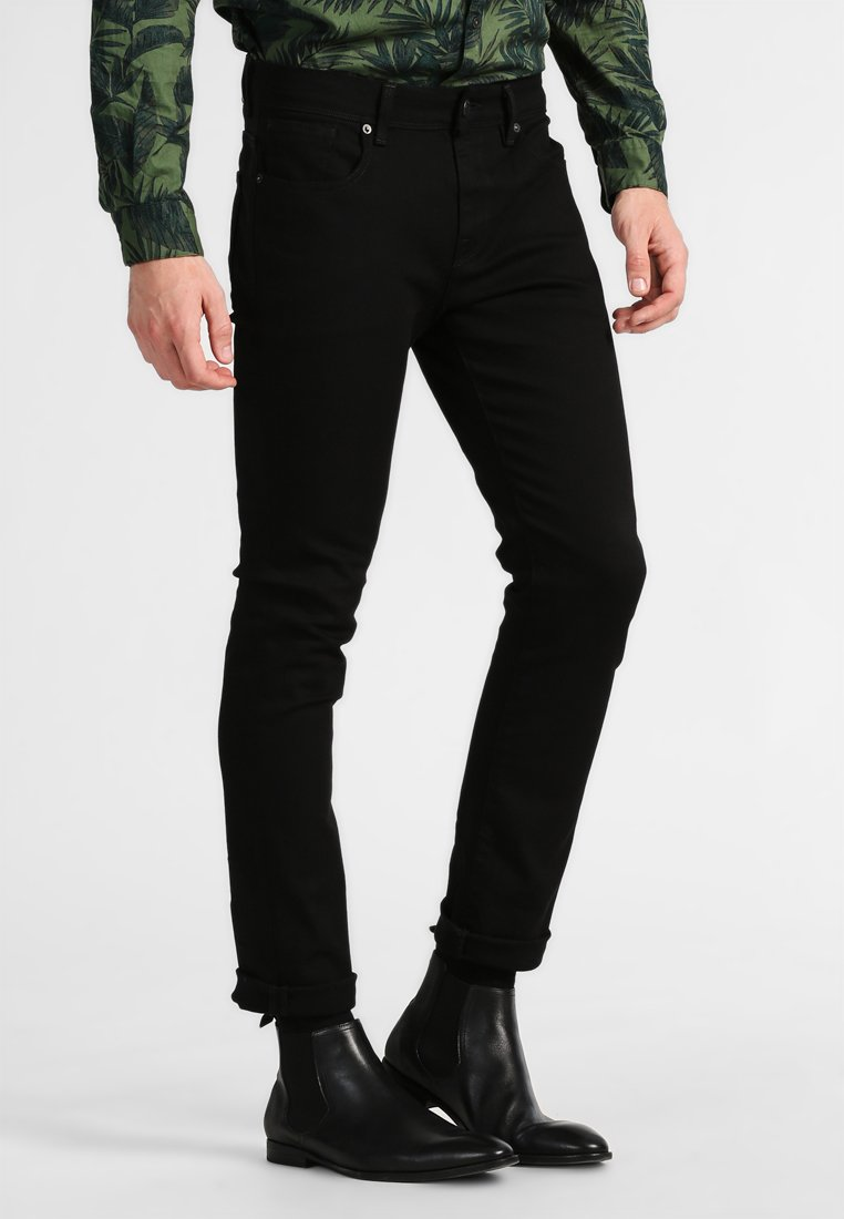 Selected Homme - SHSLIM LEON  - Džíny Slim Fit - black
