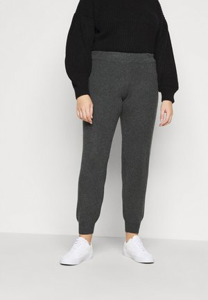 PCSALSA PANTS - Tracksuit bottoms - dark grey melange