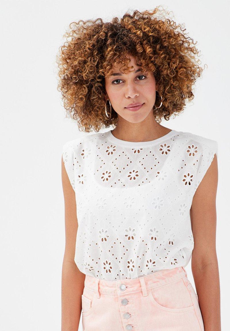 Cache Cache - T-shirt print - white
