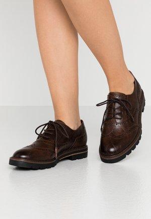 LACE UP - Zapatos de vestir - cafe antic