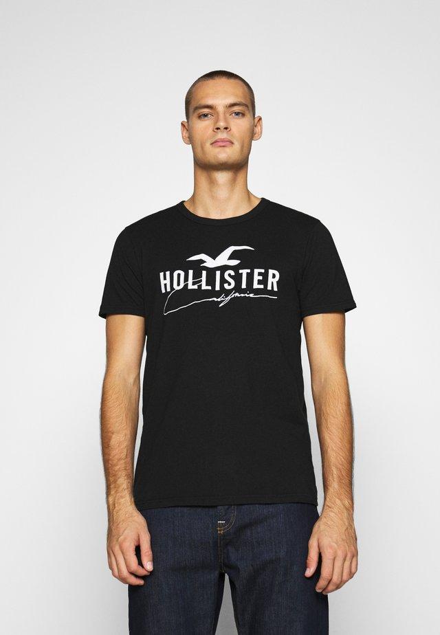 CORE TECH LOGO SOLIDS - T-shirt con stampa - black
