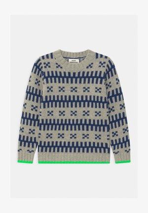 REYKJAVIK KELDINO UNISEX - Pullover - grey melange/navy/neon green