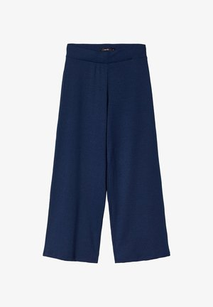 MIT WEITEM BEIN - Stoffhose - dress blues