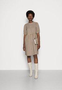 Love Copenhagen - CULLA DRESS - Day dress - brown check - 1