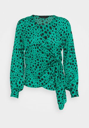 ANIMAL WRAP - Blouse - green