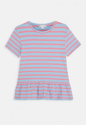 BELLA  - T-shirt imprimé - paris blue/pink