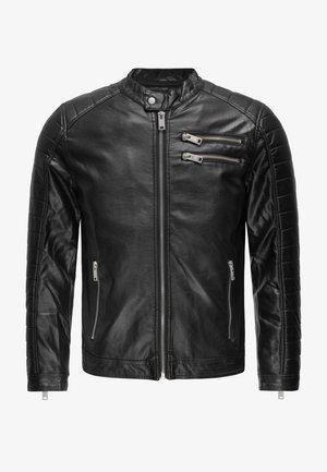 TEXAS - Faux leather jacket - schwarz