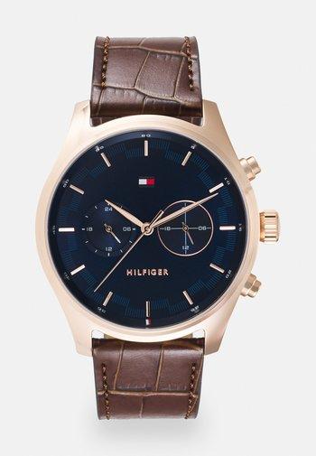SAWYER - Watch - brown/blue