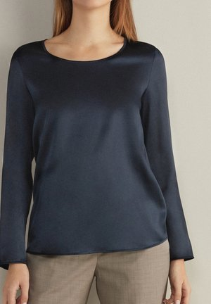 Long sleeved top - blu navy