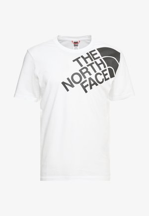 SHOULDER LOGO TEE - Printtipaita - tnf white