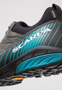Scarpa - MESCALITO GTX - Hiking shoes - shark/lakeblue - 5