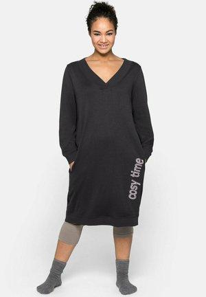 Jersey dress - anthrazit