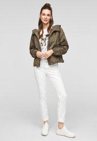Q/S designed by - Summer jacket - olive - 1