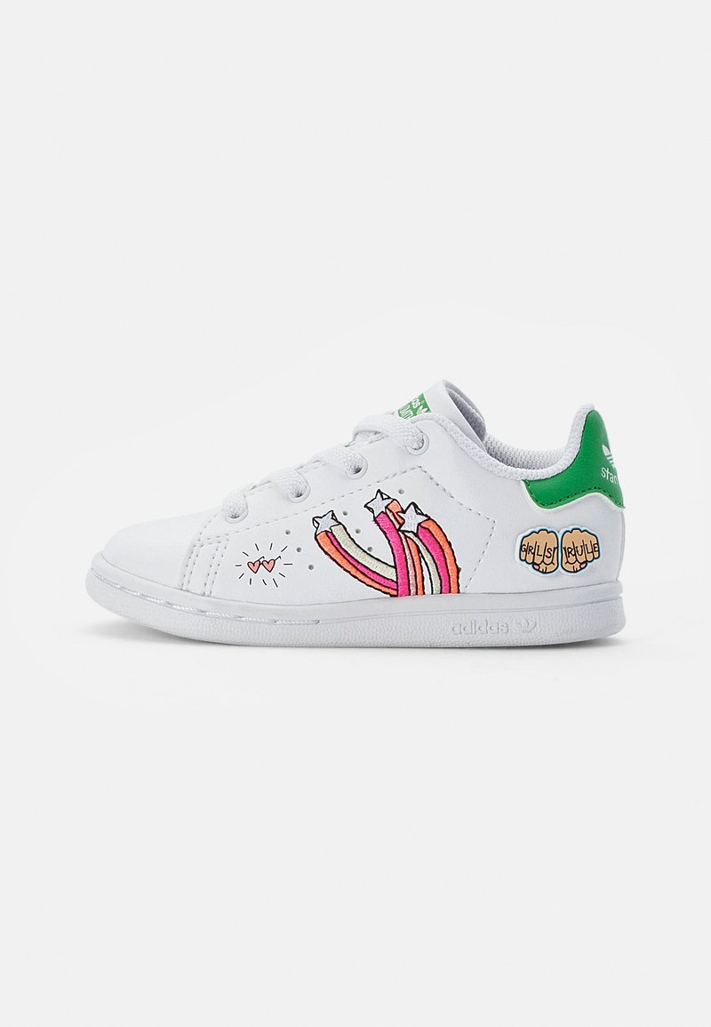 adidas Originals - STAN SMITH - Trainers - white/white/vivid green