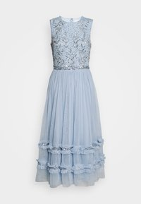 Maya Deluxe - SLEEVELESS MIDI DRESS WITH RUFFLE DETAIL SKIRT - Cocktail dress / Party dress - pearl blue