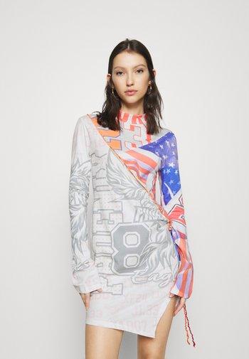 CUT SEW LONG SLEEVE DRESS - Shift dress - multi coloured