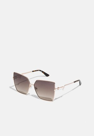 Sunglasses - shiny rose gold-coloured/gradient brown