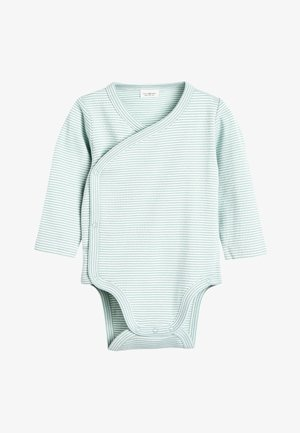 MINT 2 PACK GOTS ORGANIC WRAP-OVER BODYSUIT (0-12MTHS) - Body - grey