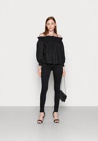 NA-KD Tall - HIGH WAIST  - Jeans Skinny Fit - black - 1