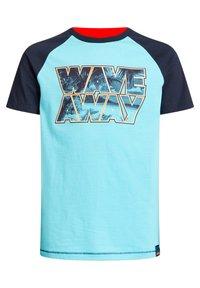 WE Fashion - T-shirt con stampa - blue - 5
