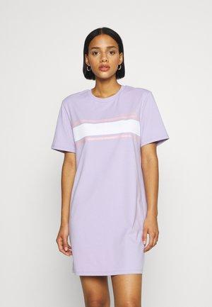 CHEST STRIPE DRESS - Jersey dress - lavender