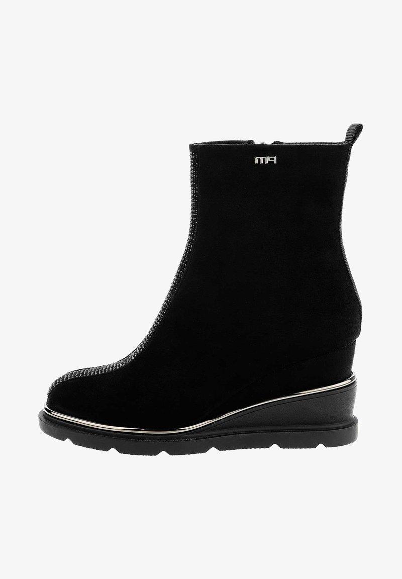 PRIMA MODA - SARENTINO - Wedge Ankle Boots - black