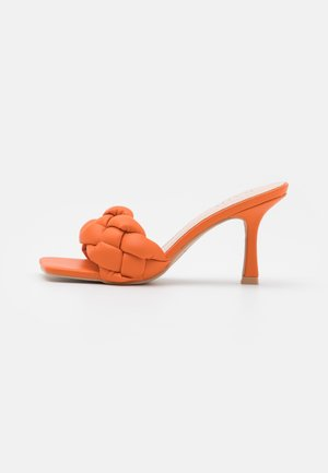 SANDRA - Heeled mules - orange