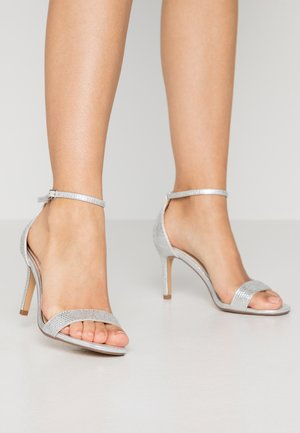 MADDI - High heeled sandals - silver