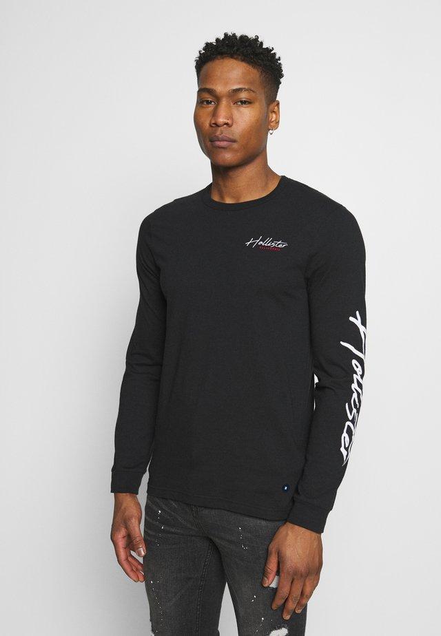 TECH LOGO - Maglietta a manica lunga - black