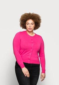 Marks & Spencer London - CREW CARDI PLAIN - Cardigan - pink - 0