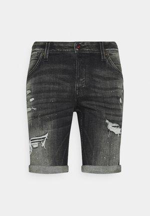 JJIRICK JJFOXSHORTS - Shorts di jeans - black denim