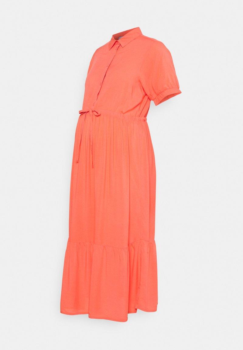MAMALICIOUS - NURSING DRESS - Shirt dress - sugar coral