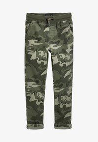 Next - GREY RIB WAIST PULL-ON TROUSERS (3-16YRS) - Tracksuit bottoms - green - 0