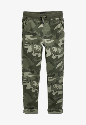 GREY RIB WAIST PULL-ON TROUSERS (3-16YRS) - Pantalon de survêtement - green