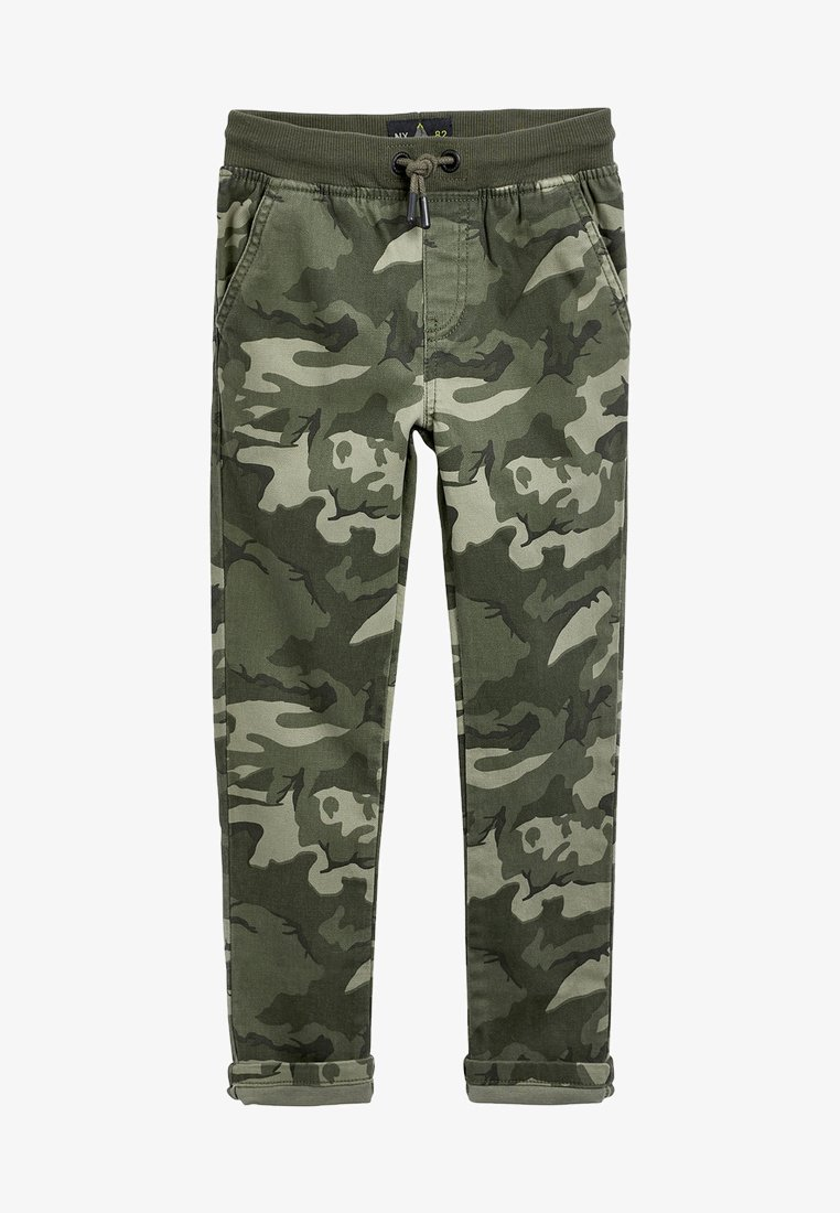Next - GREY RIB WAIST PULL-ON TROUSERS (3-16YRS) - Tracksuit bottoms - green