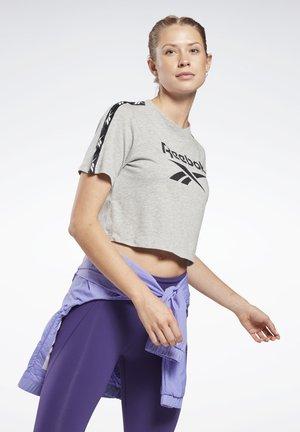 TAPE ESSENTIALS TRAINING SHORT SLEEVE - Camiseta estampada - grey