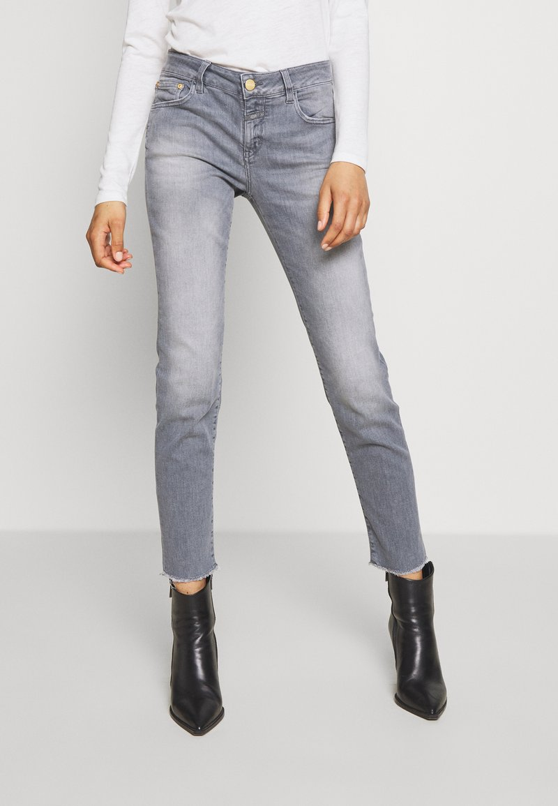 CLOSED - BAKER - SLIM FIT MID WAIST CROPPED LENGTH - Jeans Slim Fit - mid grey