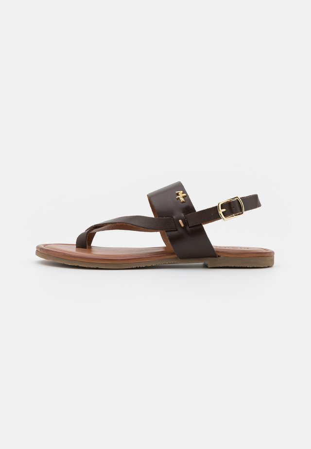 EVELINN - Sandaler m/ tåsplit - dark brown