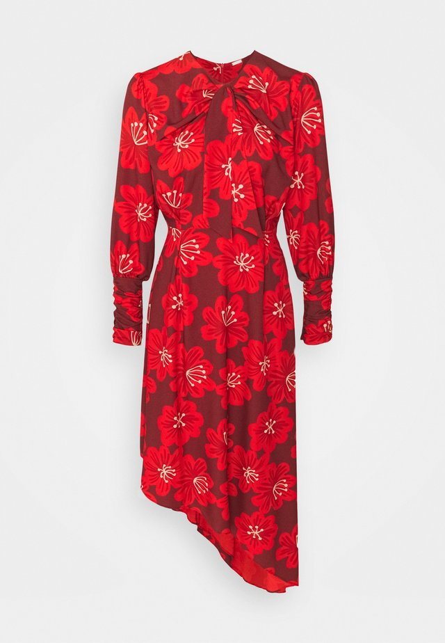 MELODY  - Day dress - linda bordo with red