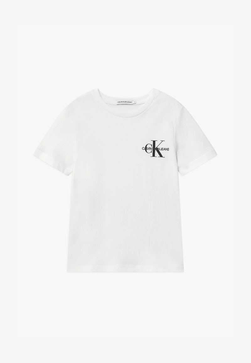 Calvin Klein Jeans - CHEST MONOGRAM UNISEX - Camiseta estampada - white